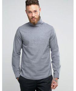 Hoxton Shirt Company | Рубашка Узкого Кроя С Воротником-Труба