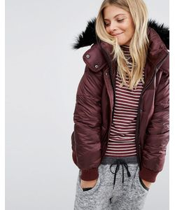 Abercrombie and Fitch | Дутая Куртка С Меховой Отделкой На Капюшоне Abercrombie Fitch