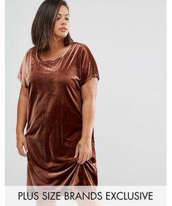 One Day Plus | Бархатное Цельнокройное Платье Мини