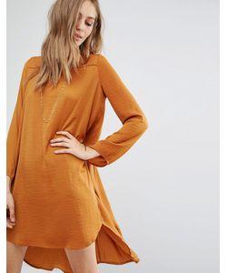 Vila | Платье С Длинными Рукавами И Удлиненной Кромкой Сзади