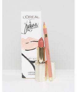 LOREAL | Набор Для Макияжа Губ Loreal Smoking Nudes By Kristina Bazan