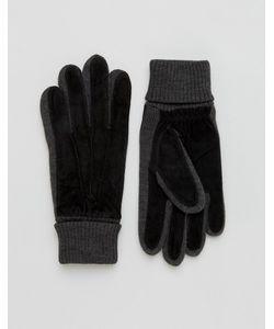 DENTS | Черные Замшевые Перчатки Kendal