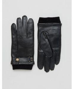 DENTS | Черные Кожаные Перчатки Penrith