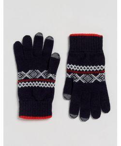 Glen Lossie | Перчатки Из Овечьей Шерсти С Узором Фэйр-Айл