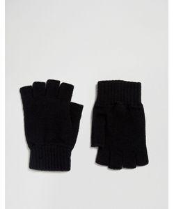 Glen Lossie | Черные Перчатки Без Пальцев Из Овечьей Шерсти