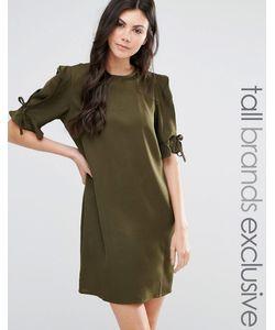 Fashion Union Tall | Цельнокройное Платье С Завязками На Рукавах