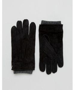 DENTS | Черные Замшевые Перчатки Hereford