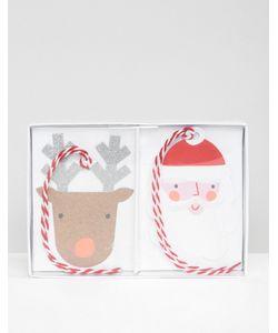 Meri Meri   Santa Reindeer Gift Tags