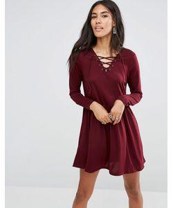 Brave Soul | Короткое Приталенное Платье Со Шнуровкой