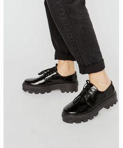 Asos | Кожаные Туфли На Плоской Подошве Со Шнуровкой Melanie