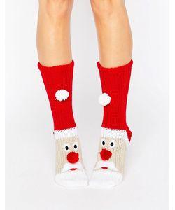 Loungeable | Толстые Вязаные Носки С Рождественским Дизайном Santa