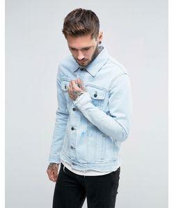 Always Rare | Винтажная Джинсовая Куртка С Брызгами Краски