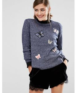 Willow and Paige | Jumper With Butterfly Patches