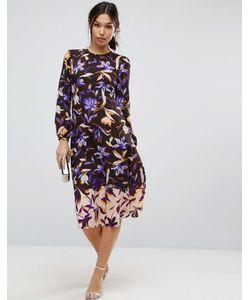 Asos | Платье Миди С Принтом