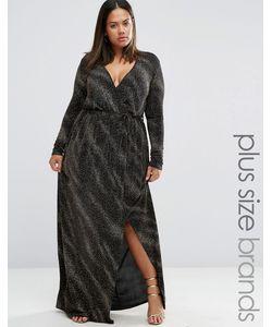 Club L | Платье Макси Из Блестящей Ткани Plus