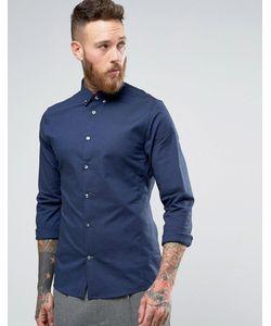 Hoxton Shirt Company | Строгая Оксфордская Рубашка Узкого Кроя