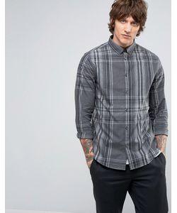 Hoxton Shirt Company | Клетчатая Рубашка Узкого Кроя В Строгом Стиле