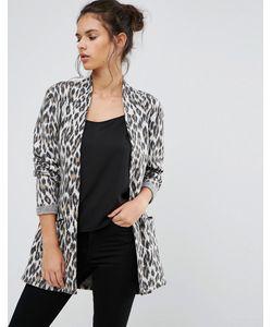 Pimkie   Leopard Print Longline Cardigan