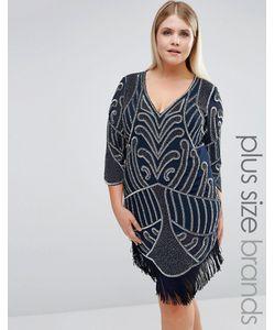 Lovedrobe Luxe | Цельнокройное Платье С Отделкой И Бахромой
