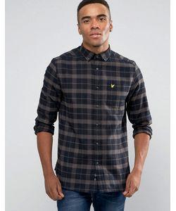 Lyle&Scott | Черная Фланелевая Рубашка Классического Кроя В Клетку Lyle Scott