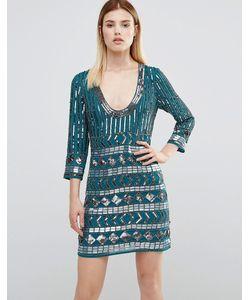 Maya | Декорированное Платье Мини С Открытой Спиной