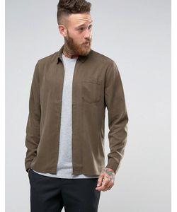Asos | Рубашка Классического Кроя Цвета На Сквозной Молнии
