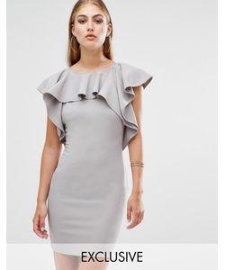 MISSGUIDED | Платье Мини С Оборкой