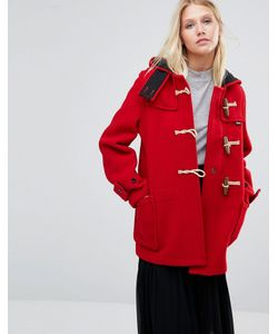 GLOVERALL | Mid Monty Coat In Red