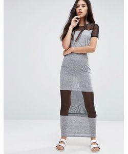 Pixie & Diamond | Платье Макси С Сетчатыми Вставками