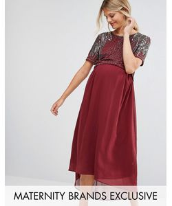 Maya Maternity | Платье Для Беременных С Отделкой И Асимметричным Краем