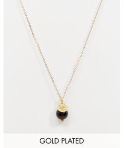 Mirabelle | Ожерелье С Позолоченной Цепочкой Длиной 45 См И Ониксом