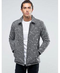 Asos | Черно-Белая Куртка Из Смешанной Шерсти
