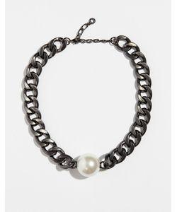 Pilgrim | Ожерелье С Покрытием Из Гематита С Искусственным Жемчугом