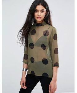 ICHI | Полупрозрачная Рубашка В Горошек X Bimara