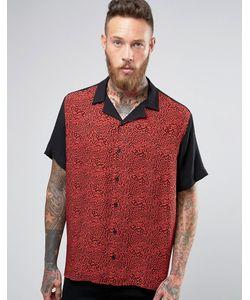 Asos | Вискозная Рубашка С Леопардовой Вставкой