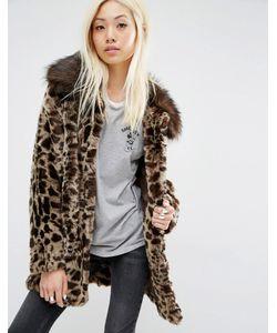 Unreal Fur | Пальто Из Искусственного Меха С Леопардовым Рисунком Venus