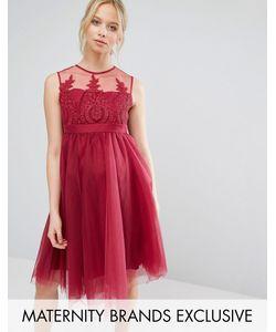 Chi Chi Maternity | Выходное Платье Для Беременных С Вышивкой И Юбкой Из Тюля Chi