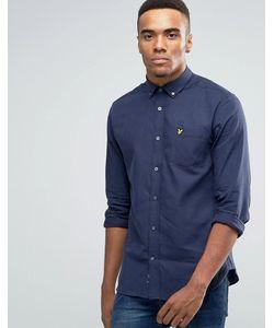 Lyle&Scott | Темно-Синяя Меланжевая Фланелевая Рубашка На Пуговицах Lyle Scott