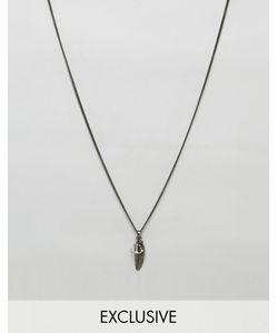 Simon Carter | Ожерелье С Подвесками В Виде Перышка И Якоря Эксклюзивно