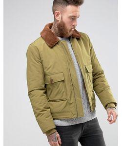 Asos | Куртка Милитари Цвета С Воротником Борг
