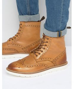 Frank Wright | Brogue Boots With Contrast Sole