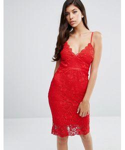 Lipsy | Кружевное Платье С Корсетом И Фактурной Отделкой По Краю