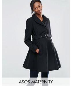 ASOS Maternity | Короткое Приталенное Пальто Для Беременных С Воротником-Трубой