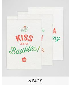 Gifts | Набор Из 6 Рождественских Открыток Brainbox Candy