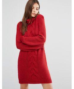 Oneon | Платье-Джемпер Ручной Вязки С Узором Косичка