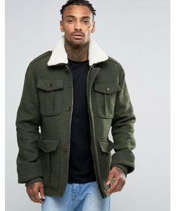 Threadbare | Куртка С 4 Карманами И Воротником Borg
