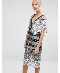 Foxiedox   Платье Миди С Вырезом Deville