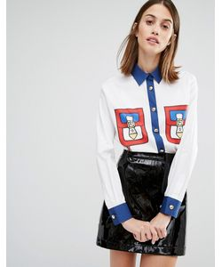 Love Moschino | Рубашка С Принтом В Виде Карманов