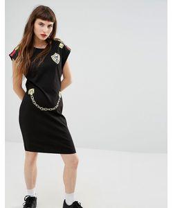 Love Moschino | Платье-Футболка С Принтом Цепочки