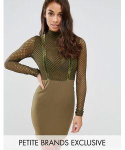 NaaNaa Petite   Облегающее Платье С Топом Из Сеточки
